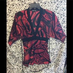 Rampage Butterfly Sleeve Top